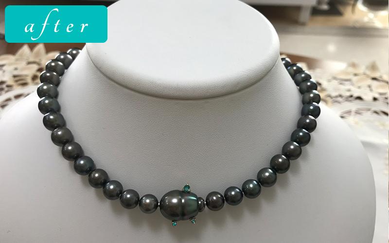 黒真珠ネックレス-プラチナきりりクール