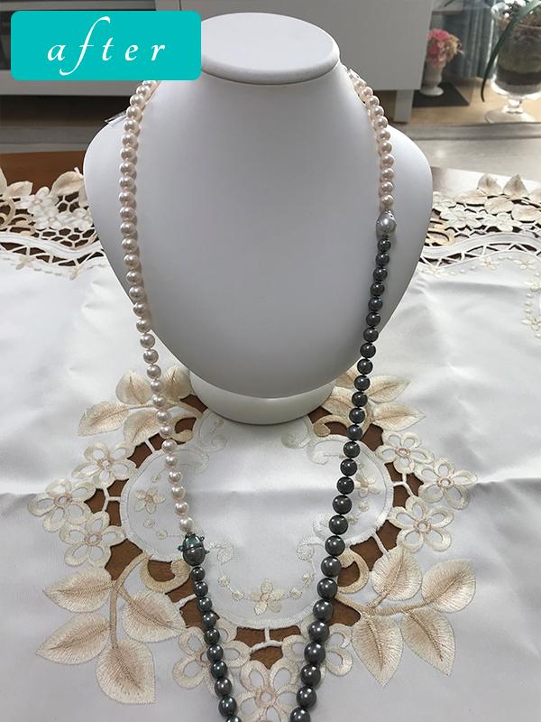 アコヤ真珠ネックレス+黒真珠ネックレス-プラチナきりりクール