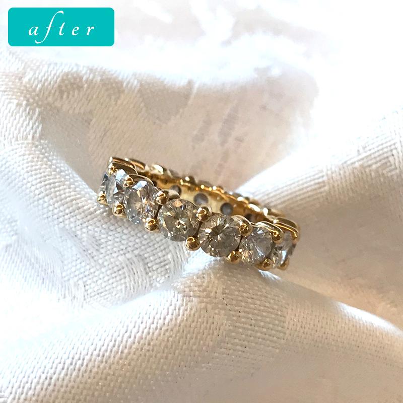 K18 ダイヤモンド3.9ct リング-ゴールドきりりゴージャスタイプ